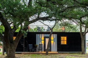 tiny house with trees